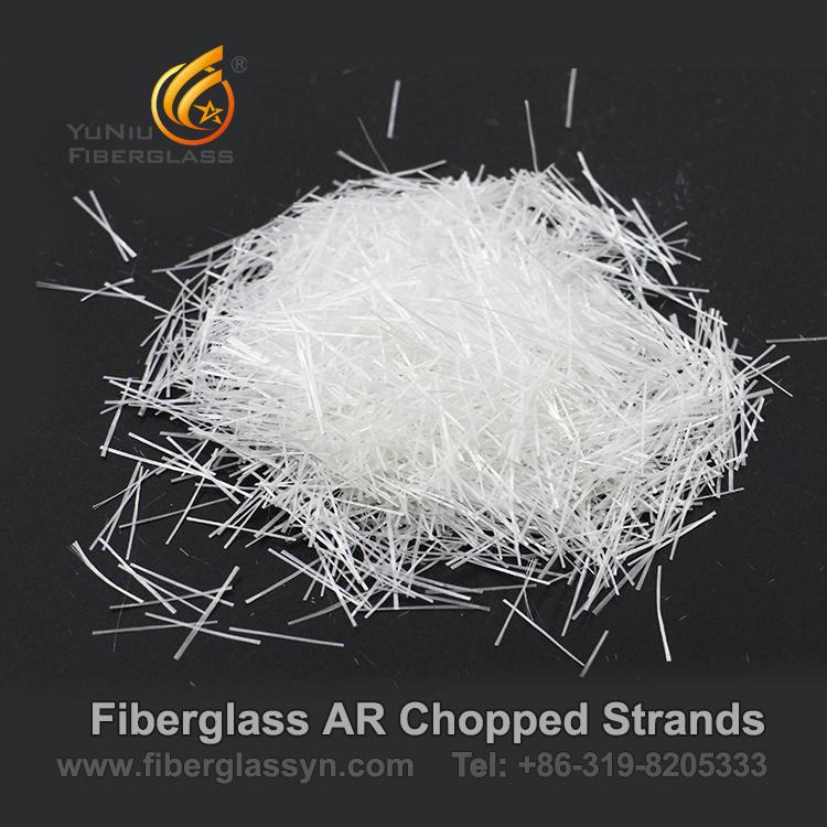 El choppe resistente de AR de la fibra de vidrio/de la fibra de vidrio del álcali trenza a surtidores