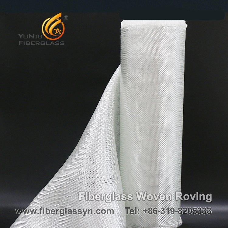llano roving tejido fibra de vidrio del E-vidrio